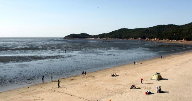 무의도 하나개 해변의 풍경 사진 이미지입니다.
