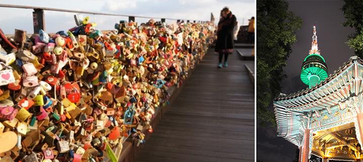 N서울타워의 명물 사랑의 자물쇠 사진입니다.