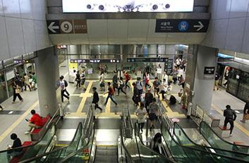 김포공항역 평면환승 사진입니다.