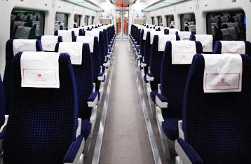 직통열차 내부